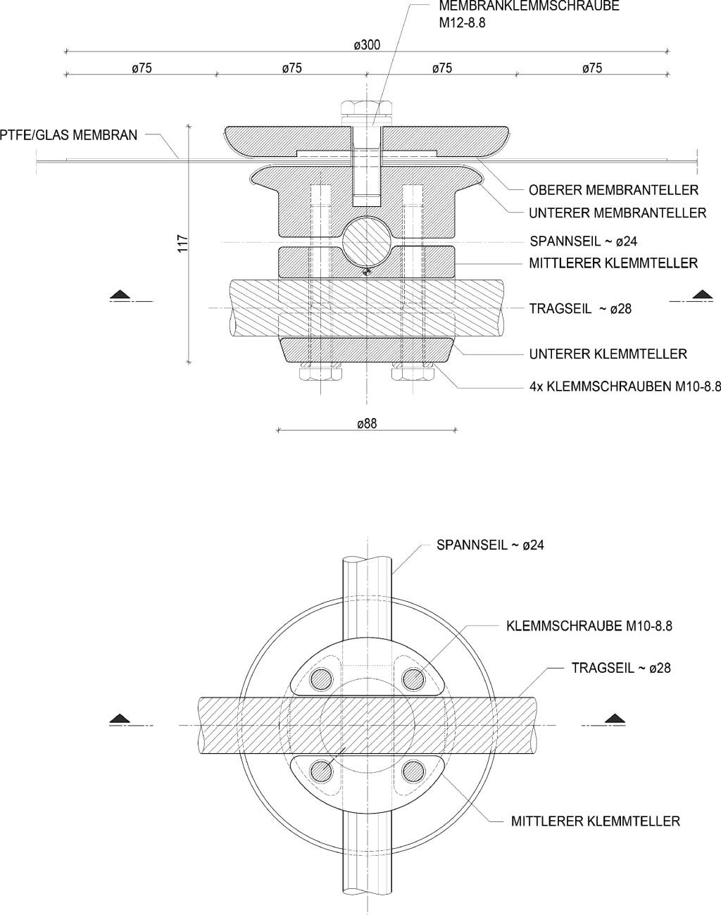 Bild 10. Detail des Klemmknotens Abb.: schlaich bergermann partner