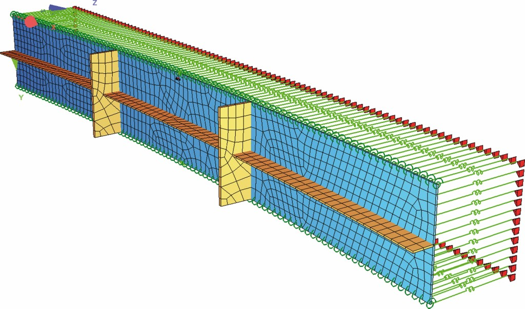 Bild 19. FE-Modell eines Einzelblechs Abb.: schlaich bergermann partner