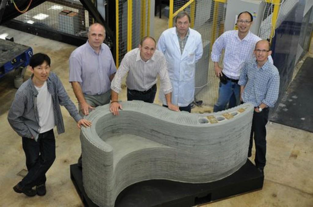 "Bild 6. Concrete Printing ""Wonder bench"" Abb.: [12]"