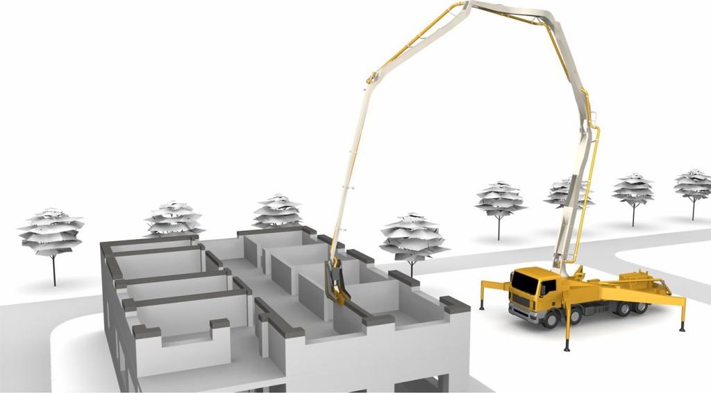 Bild 2. Visualisierung des CONPrint3D-Verfahrens Abb.: Martin Krause, TU Dresden, Institut für Baubetriebswesen