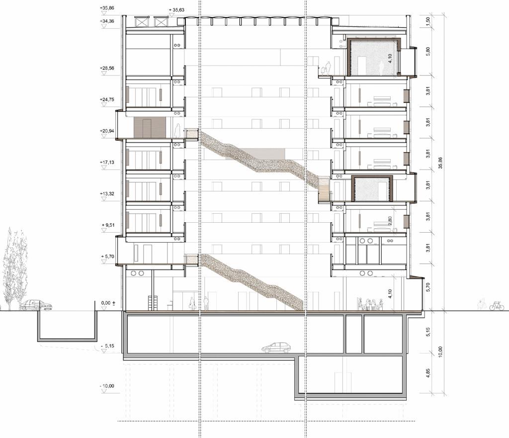 Bild 8. Gebäudeschnitt