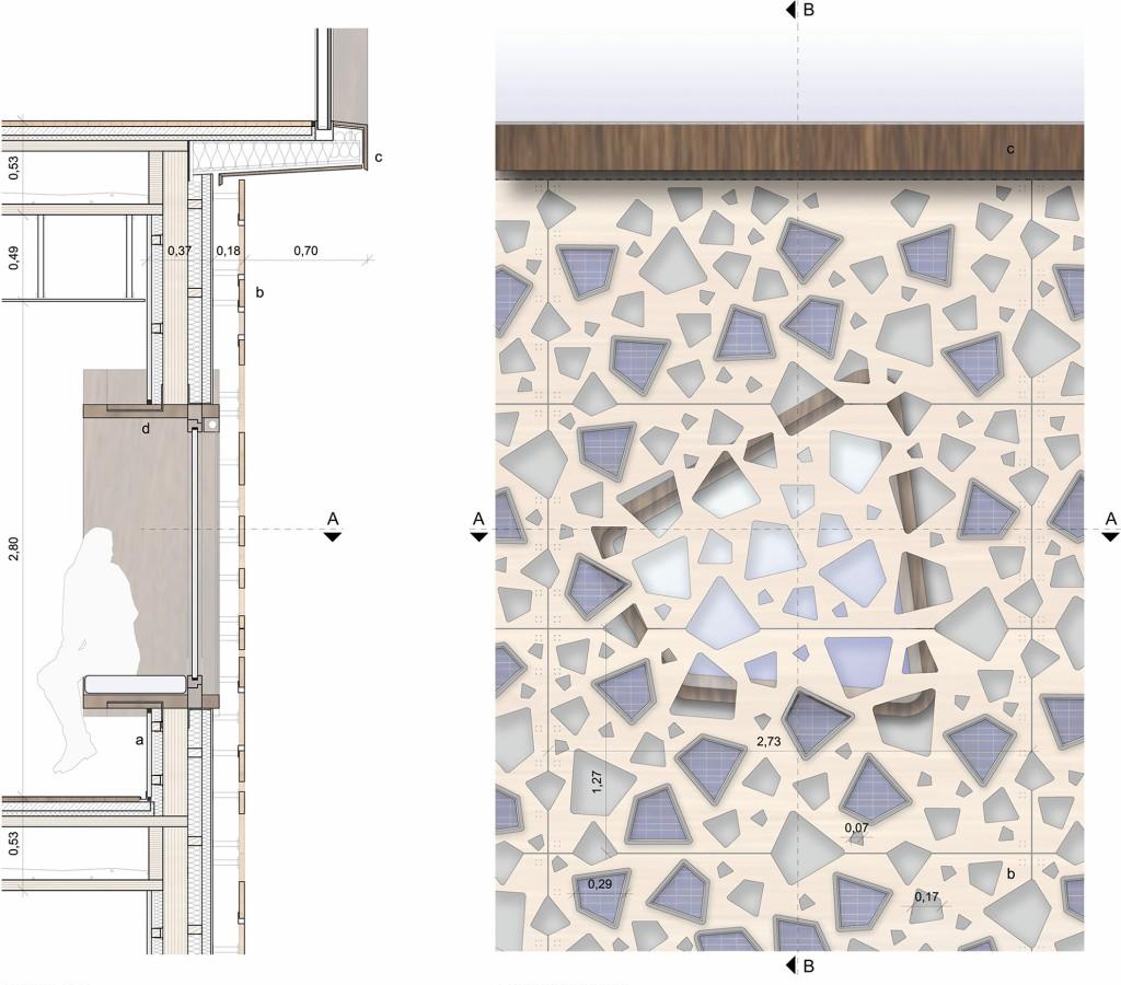 Bild 9. Fassadenschnitt und –Ansicht