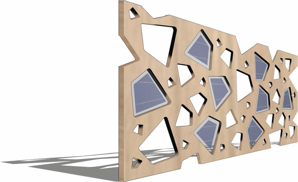 Bild 10. Fassadenplatte mit integrierten PV-Modulen