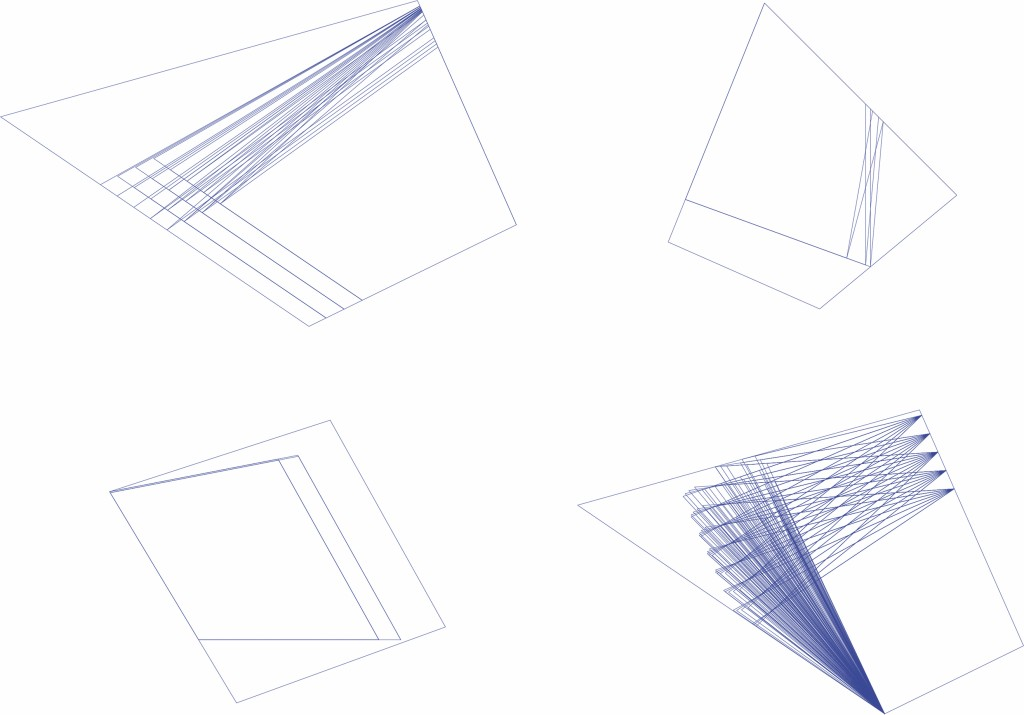Bild 13. Ergebnis erste Datei: Vier Testgrundstücke mit möglichen Konturen