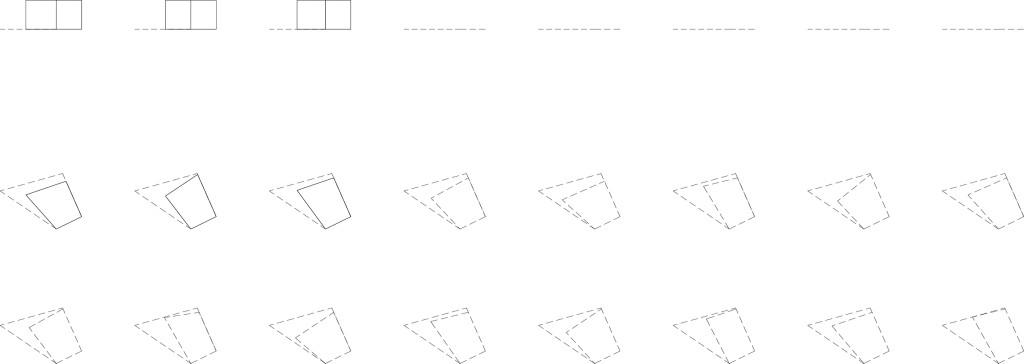 Bild 14. Ergebnis zweite Datei: Konturen in der Reihenfolge ihres Filterergebnisses in Ansicht und Grundriss