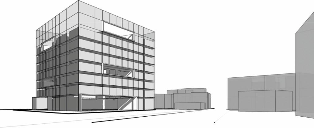 Bild 16. Ergebnis vierte Datei: Dreidimensionale Darstellung der Volumenköper aller relevanter Räume & Fassade