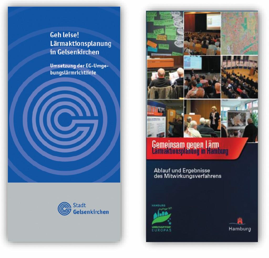 Bild 3 Informationsflyer zur 1. Stufe der Lärmaktionsplanung in Gelsenkirchen und Hamburg