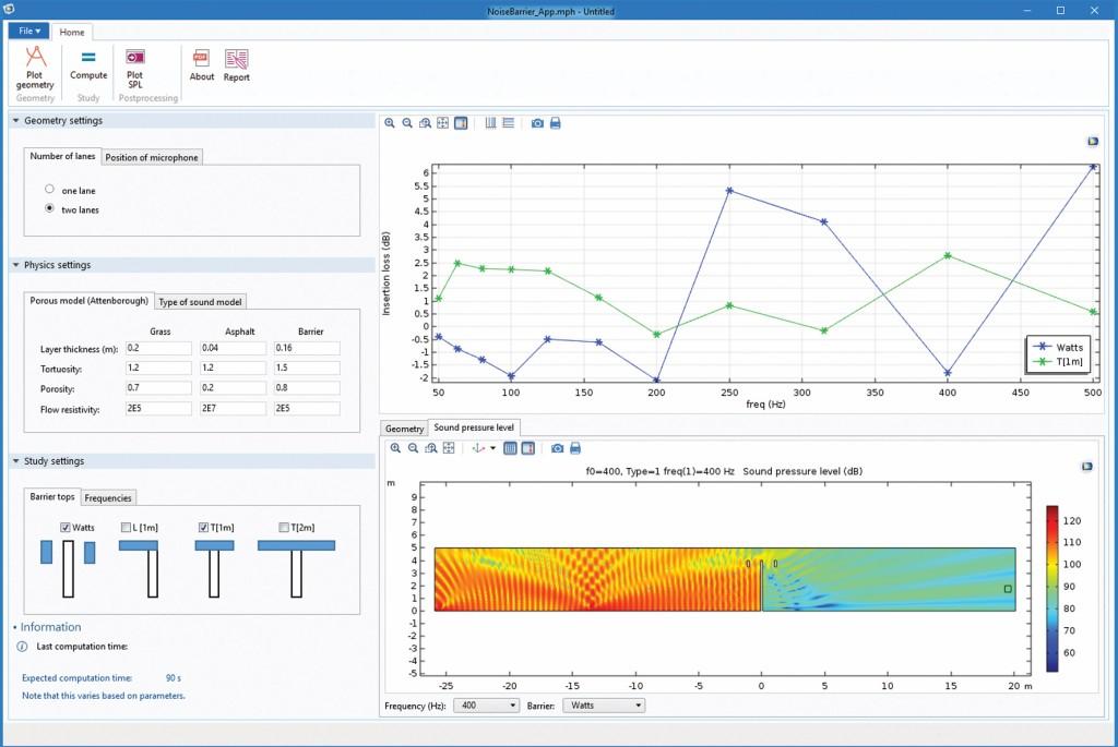 Bild 7 Screenshot der Lärmschutzwand-App.