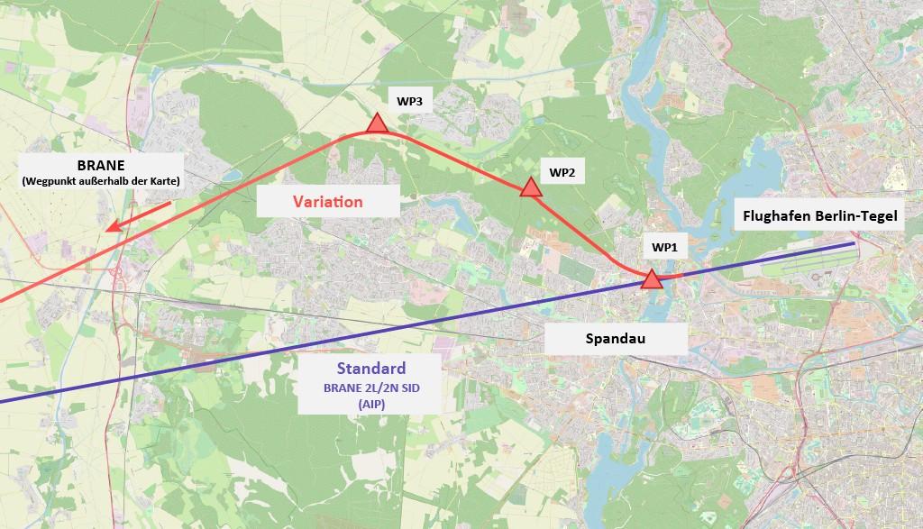 Bild 1 Darstellung beider Abflugverfahren.