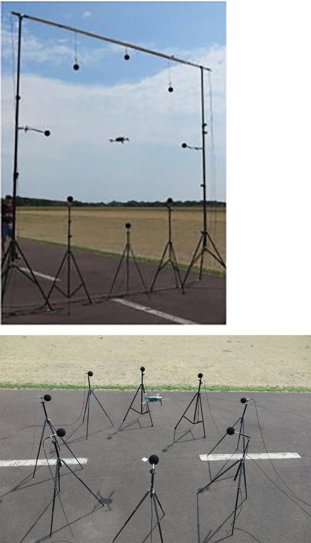 Bild 1 Messaufbau zur Bestimmung der vertikalen und horizontalen Richtcharakteristik.