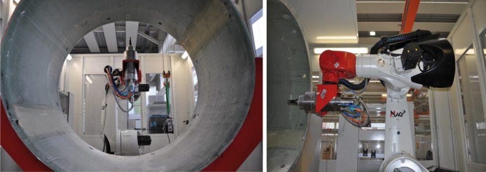 Bild 1. Industrieroboter übernehmen immer mehr Auf‧gaben bei der spanenden Bearbeitung von Bauteilen [1]. Bild: ISW, Universität Stuttgart