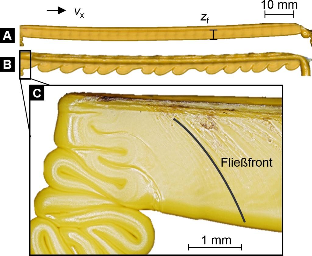 Bild 2. Beispiele vermessener Proben, die aus der mit Material befüllten Nut entnommen wurden. Bild: TU Dortmund