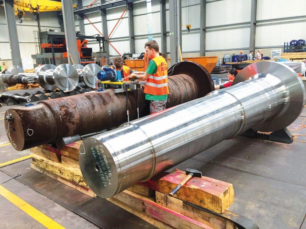 """Bild 1. Geglühte und ungeglühte Walzen – Bauteile, für die das Verfahren MEMV (""""Metall entspannen mit Vibration"""") der WIAP AG besonders geeignet ist. Bild:WIAP"""