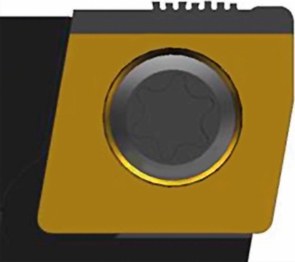 Bild 3. Der Schneideinsatz für das Aufrauwerkzeug verfügt über filigrane PKD-Zähne, die ein Profil mit Hinterschnitten erzeugen (links). Nach der Bearbeitung ist die Zylinderbohrung mit einem Schwalbenschwanzprofil überzogen – eine ideale Basis, um die Oberfläche zu beschichten (rechts). Bild: Walter