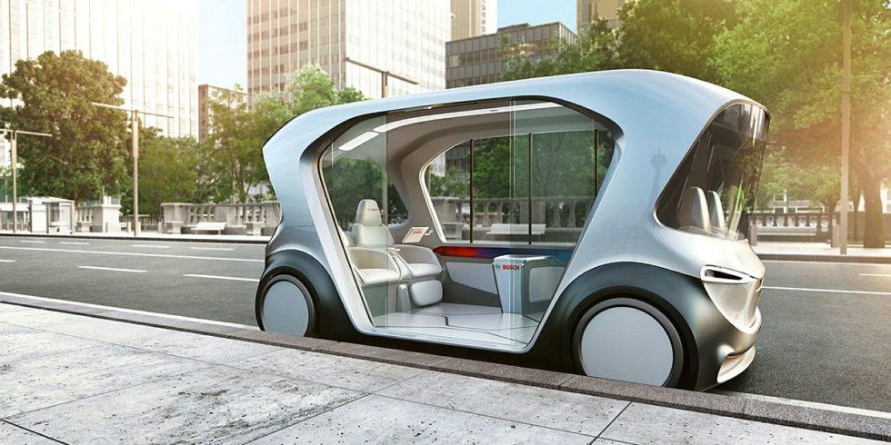 Bosch stellt auf der CES 2019 in Las Vegas, USA, sein Shuttle-Konzeptfahrzeug vor