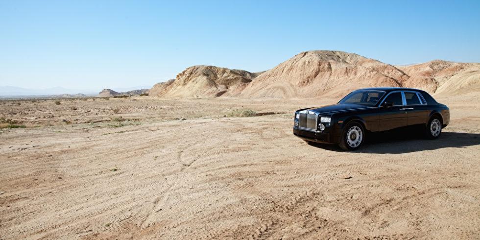 Rolls Royce in der Wüste