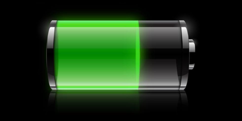 Batteriesymbol grün schwarzer Hintergrund