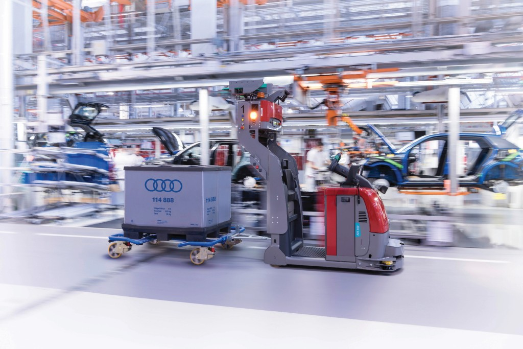 Montageversorgung bei Audi.Bild: Audi AG