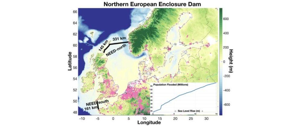 Studie Bild Entwurf Damm Nordsee