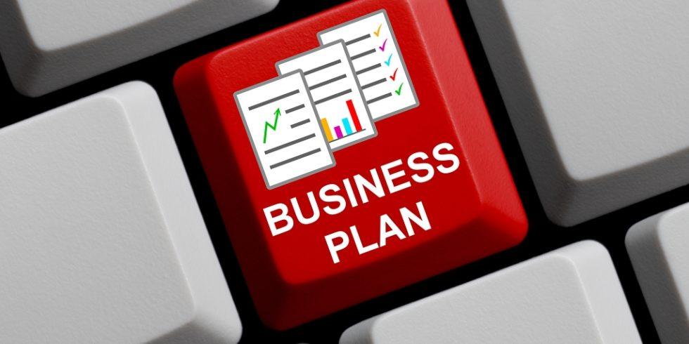 Businessplan ist auf einen Tastatur-Taste geschrieben