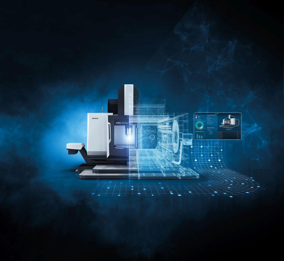 Digital Twin einer Werkzeugmaschine: Die Digital Solutions unterstützen KMU mit flexiblen Lösungen für eine zukunftsorientierte Produktion. Bild: DMG Mori