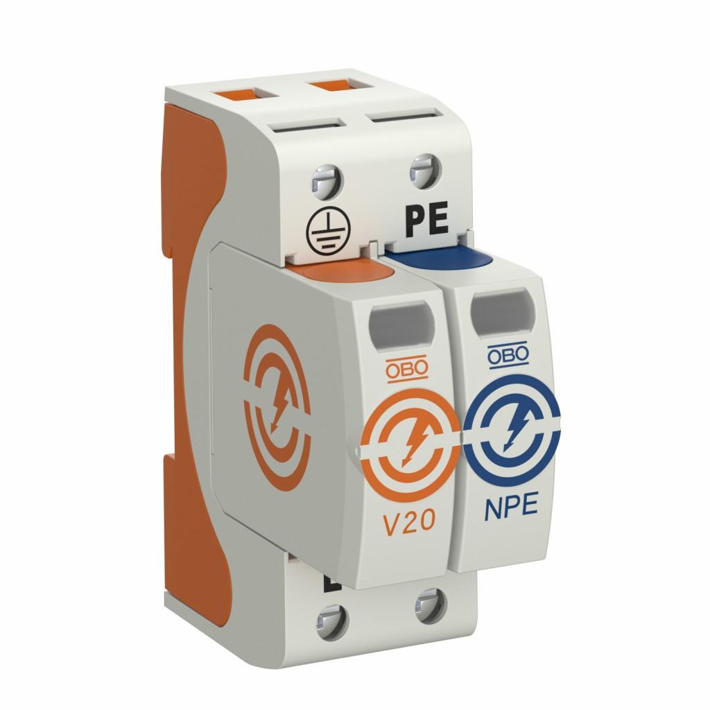 Bild 2 Überspannungsschutz des Energienetzes. Quelle: OBO Bettemann GmbH&Co. KG