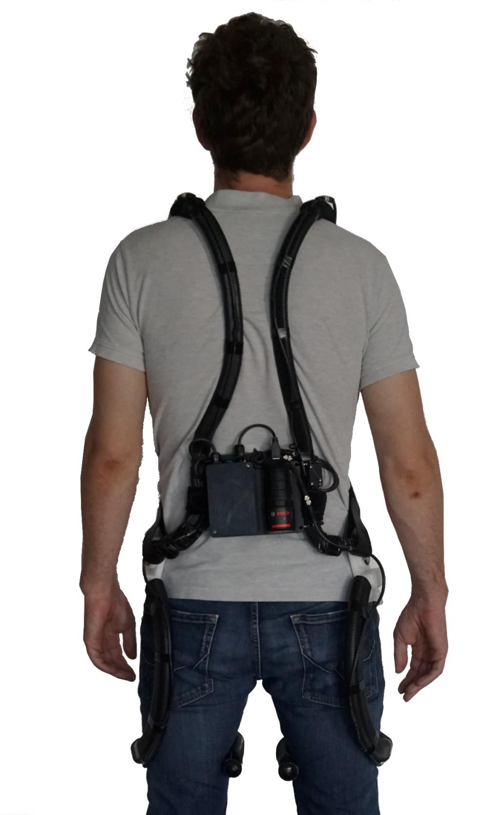 """Intelligente """"CareJack Spine and Hip"""" mit Bewegungserkennung, Echtzeitfeedback und Kraftübertragung Bild: Fraunhofer IP"""