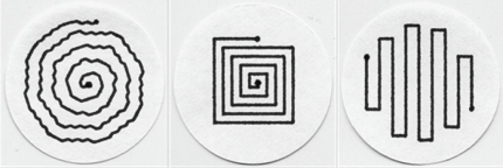 Bild 6. Programmierte und getestete Muster zur Filterbelegung.
