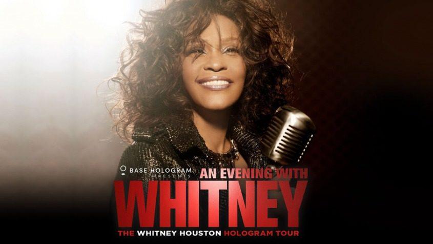 Whitney Houston als Hologramm auf der Bühne