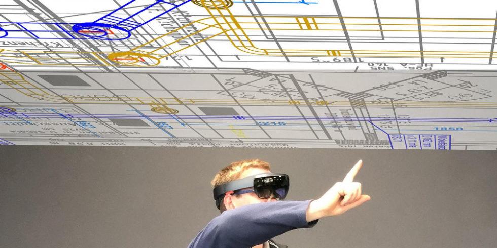 VR im Handwerk Illustration
