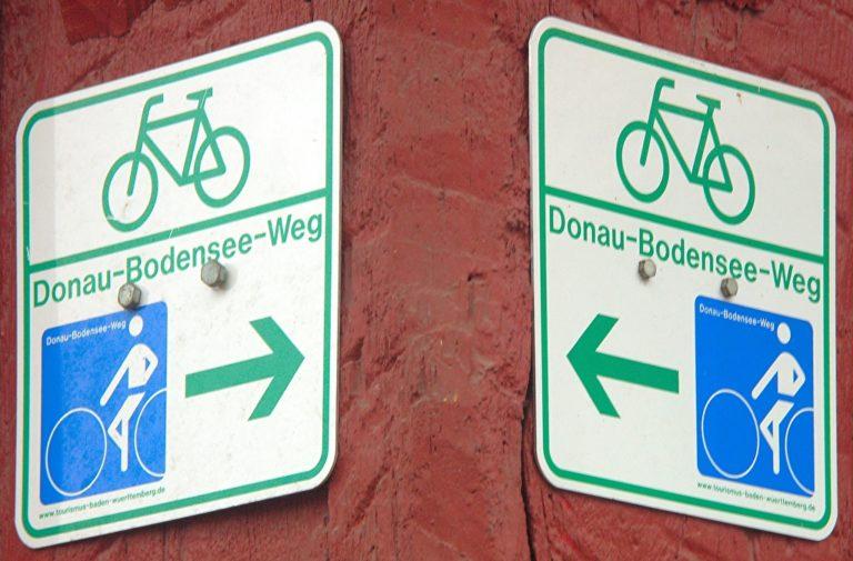 Gegenverkehr Bodensee Radweg
