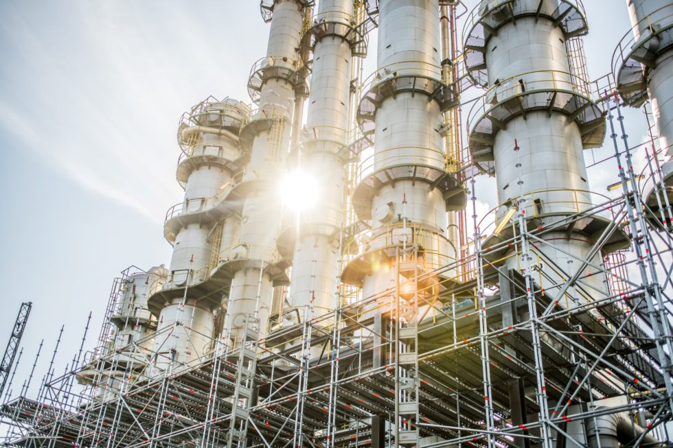 Evonik Butadien-Anlage, den Ausgangsstoff für Adipate, aus denen unter anderem auch Nylon hergestellt werden kann. Bild: Evonik