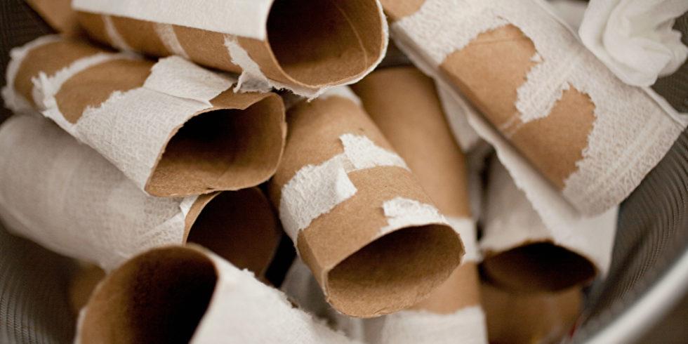 Toilettenpapier ist Mangelware