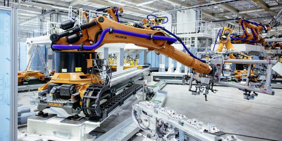 Volkswagen-Werk in Zwickau: Der Autokonzern stoppt die Produktion wegen des Coronavirus an vielen Standorten. Foto:  Volkswagen AG
