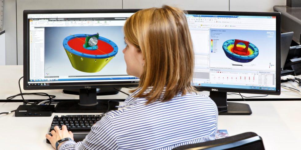 Numerische Simulation des Gesamtaufbaus zur Resonanzbestimmung