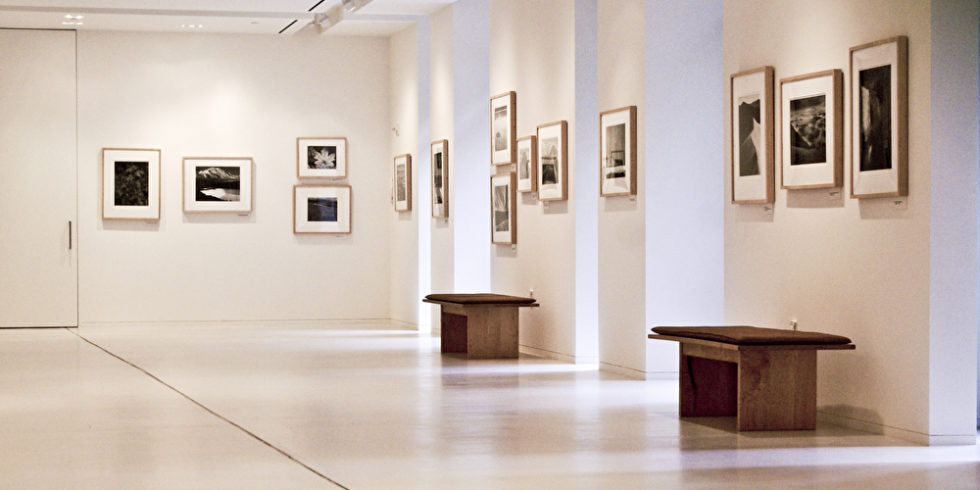 Museumsraum mit Bildern an der Wand