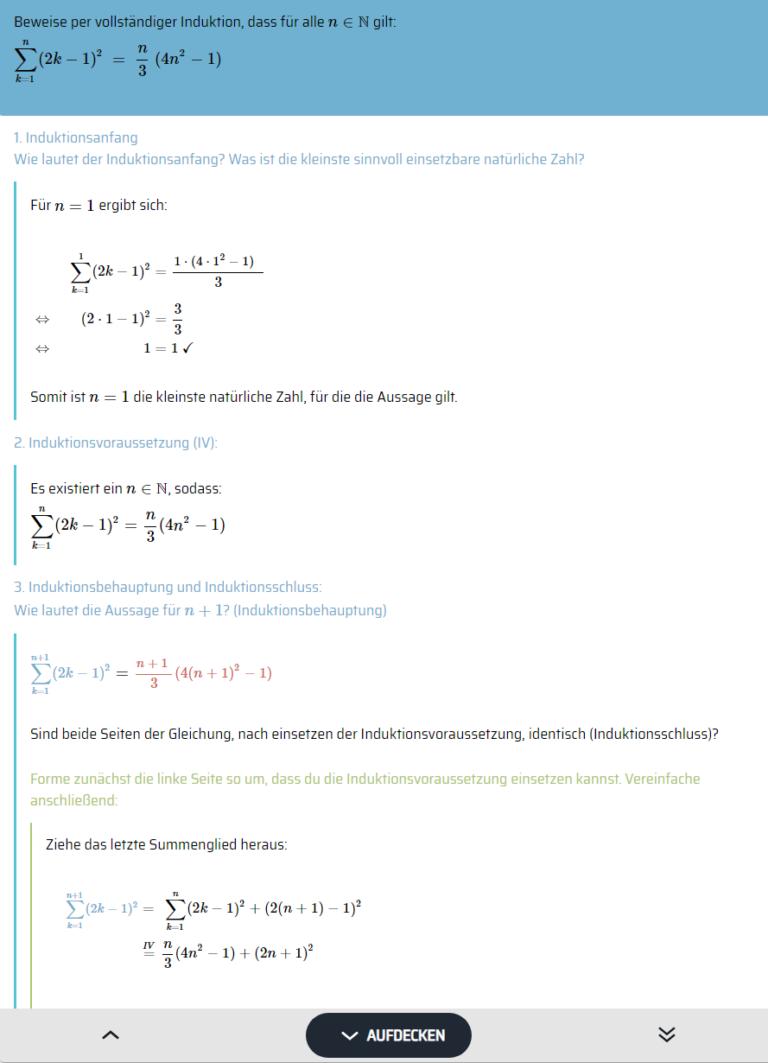 Beispielaufgabe MathMax