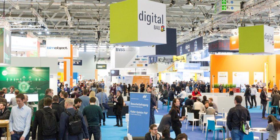 Intensiver fachlicher Austausch begleitete die digitalBAU. Foto: Messe München GmbH