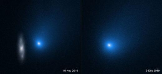 Die Aufnahme des Hubble-Space-Teleskops zeigt den Kometen 2I/Borisov. Foto: Nasa, Esa, D. Jewitt (UCLA)