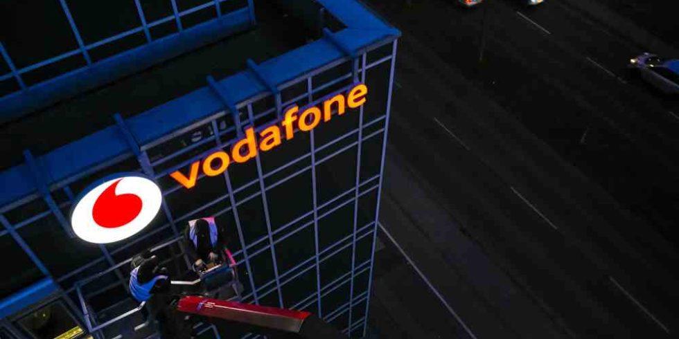 Vodafone Haus mit Logo