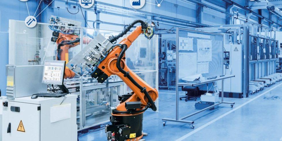 """""""Blick über den Tellerrand"""": Nach dem letzten Schritt, der funktionalen Vernetzung in der Smart Factory, lassen sich beispielsweise Produkte und deren Bestandteile über die komplette Wertschöpfungskette rückverfolgen. Foto: MPDV, Westend61/stock.adobe.com"""