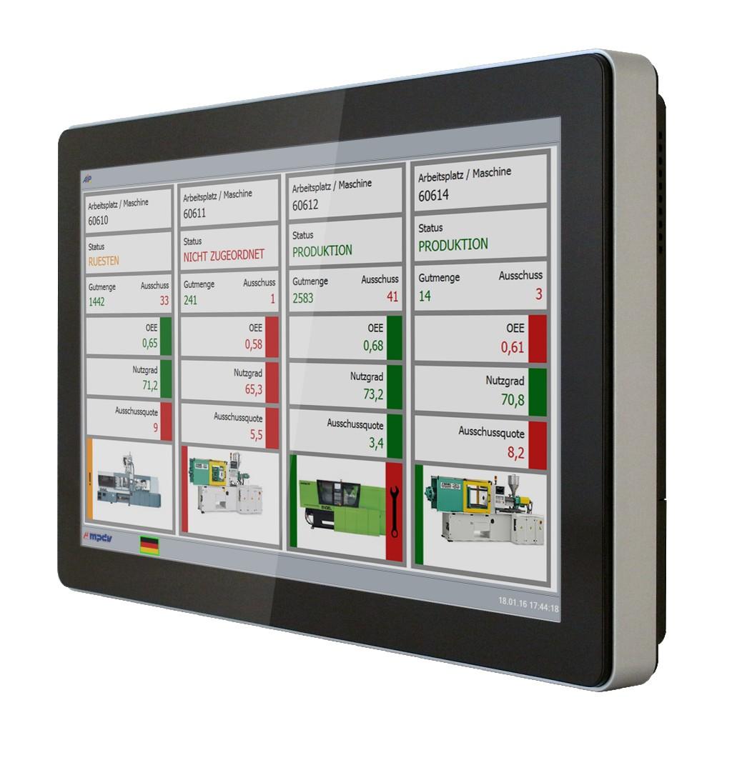 Bild 2. Der Shopfloor-Client erfasst und visualisiert Echtzeitdaten direkt an der Maschine. Foto: MPDV