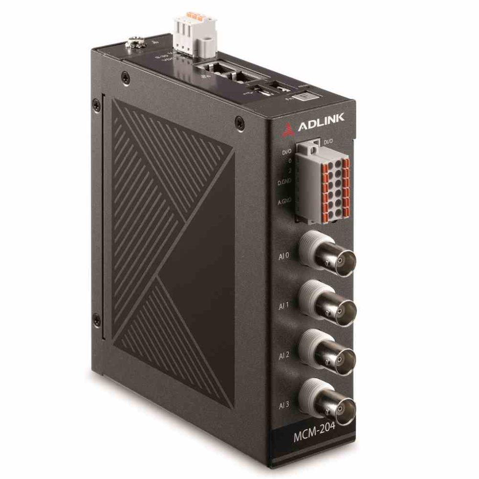 Mit seinen kompakten Abmessungen von 127 mm x 111 mm x 40 mm eignet sich der Ethernet-DAQ-Computer MCM-204 auch für die Hutschienenmontage Foto: Acceed