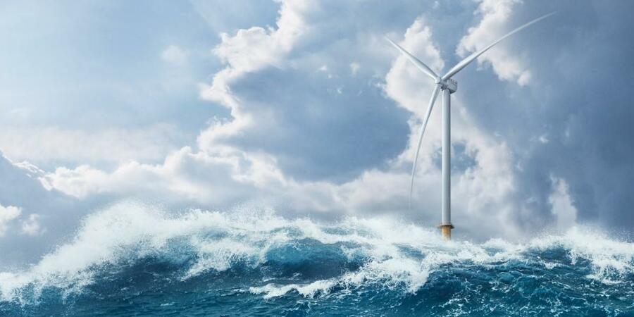 Turbine auf dem Meer