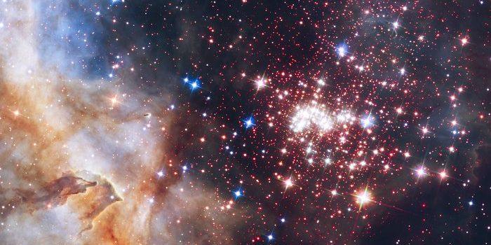 Der Sternencluster Westerlund 2. Foto: NASA, ESA, the Hubble Heritage Team (STScI/AURA), A. Nota (ESA/STScI), Westerlund 2 Science Team