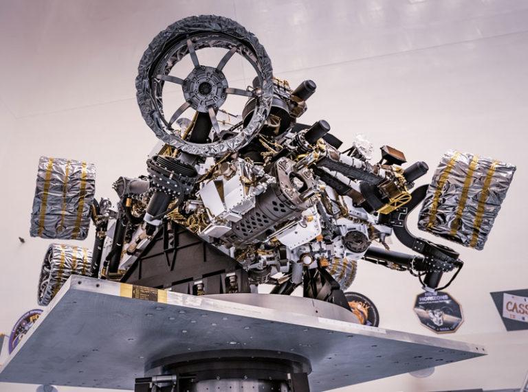 "Mars-Rover ""Perseverance"" im Kennedy-Space-Center in Florida. Foto: NASA/JPL-Caltech"