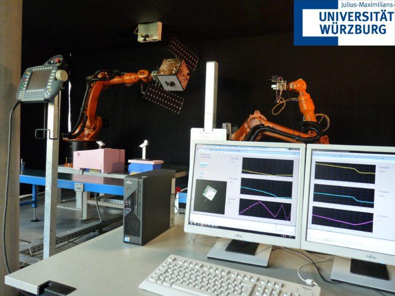 An der Uni Würzburg gab es schon Experimente für das nationale Programm DEOS zum Andocken eines Roboters an eine Raumsonde – doch das Projekt wurde aufgegeben. Foto: Julius-Maximilians-Universität Würzburg