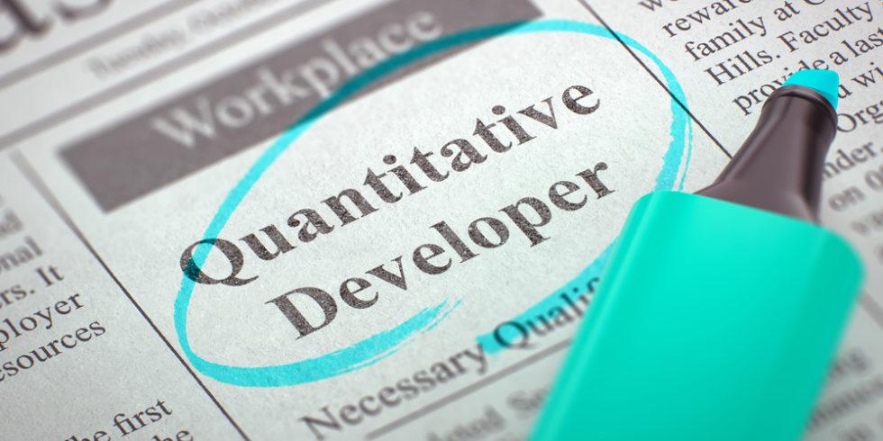 Zeitungsannonce Quantitative Developer