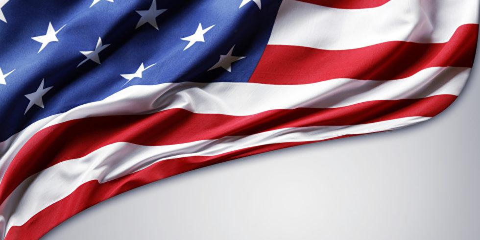 US-Flagge Ausschnitt