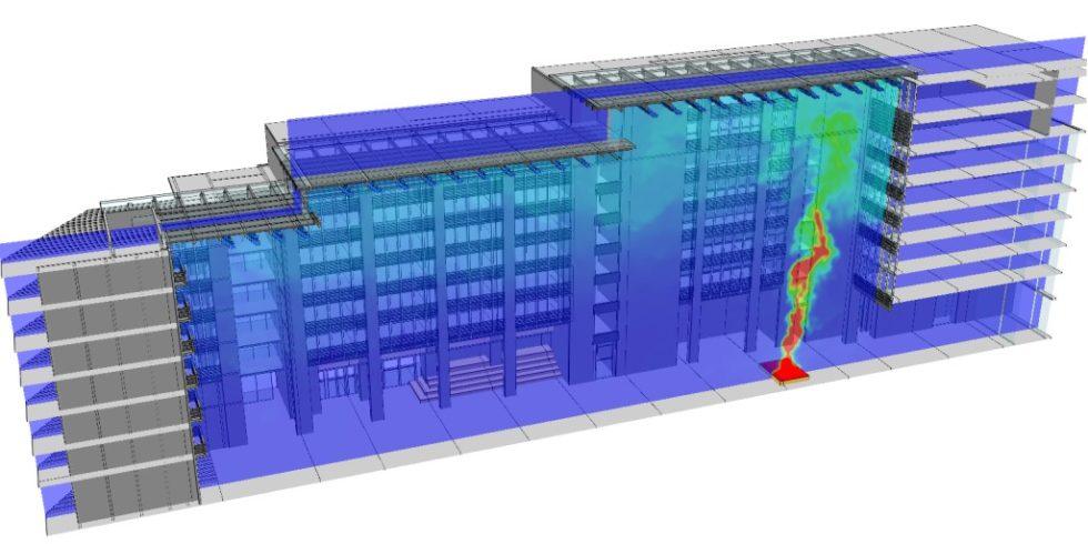 Die computergestützte Simulation von unterschiedlichen Brandszenarien